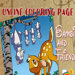 bambi-and-friends-online-coloring-page-150x150