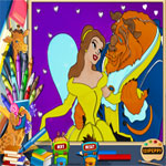 belle-and-the-beast-online-coloring-page-150x150