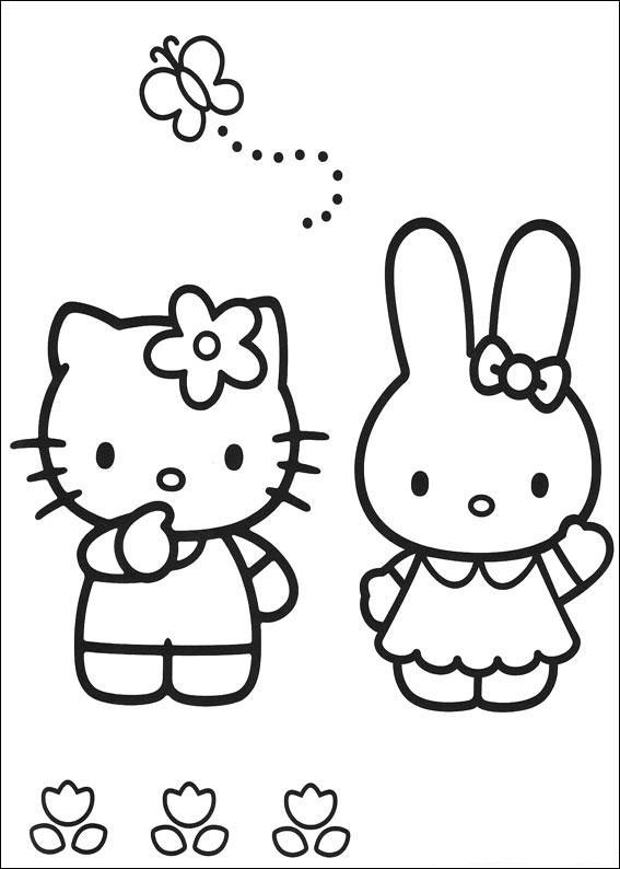 hello kitty slike za bojenje Bojanke za štampu hello kitty slike za bojenje