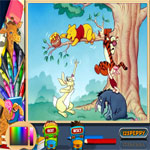 pooh-and-friends-with-honey-online-coloring-page-150x150